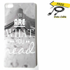 Quote text Designer hard back cover for Gionee Elife S7 + Free Data cable