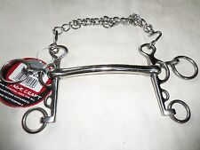 "NEW RUGBY PELHAM AND CURB CHAIN COTTAGE CRAFT 5 1/2"" S/S"
