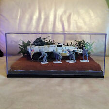 WWII Theme White US Army Half Track Scout Car & Soldier War Diorama