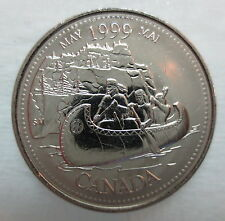 1999 CANADA 25¢ MAY MILLENIUM SERIES BRILLIANT UNCIRCULATED QUARTER