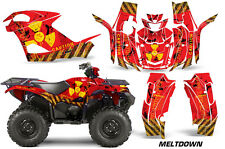 AMR Racing Yamaha Grizzly EPS/EPS Graphic Kit Wrap Quad Decals ATV 2015+ MELTDWN
