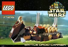 LEGO STAR WARS 'BATTLE DROID CARRIER' 7126 ALL 7 FIGURES 100% COMPLETE GUARANTEE