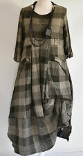 FAB GERMAN ZEDD.PLUS quirky/lagenlook MOSS CHECK  parachute dress XL/XXL