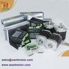 【EU Free, No Tax】4Axis Nema 34 Stepper Motor Dual Shaft1600oz,CNC 80V,7.8A Mill