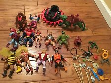 Masters of the Universe He-man MOTU Vintage LOT - 11 Figures, 1 Vehicle 22 Ace