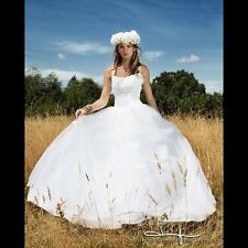Floral Princess Tulle Ballgown Wedding Dress Sincerely Bridal Size 10
