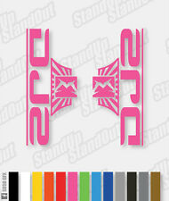 Marzocchi 2014 Style DJ2 Dirt Jumper Decals / Stickers - Custom / Fluorescent