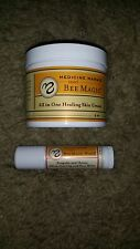 Medicine Mamas Sweet Bee Magic Skin Cream 4 oz Lip Balm .5 oz Organic Set