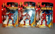 "Iron Man 2 IRON MAN Mark III & V & VI  3"" Figures  Marvel"