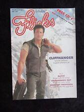 Flicks Magazine Sylvester Stallone cover - Cliffhanger, Groundhog Day, Alive