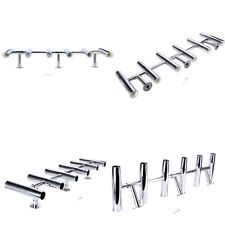 6 Tube Adjustable Stainless Rocket Launcher Rod Holders, Can be Rotated 360 Deg