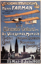 "Reproduction of a Vintage  ""Aero Club Flanders"" Air Show Poster"