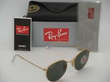 Ray-Ban RB 3447 112/58 50mm Round Metal Gold Frame Green Polarized Hard to Find
