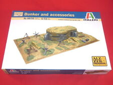 Italeri 1/72nd Scale WWII BUNKER & Battle Accessories Model Kit NEW BOX 6070
