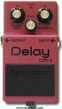 BOSS DM-2 ANALOGUE retard pédale d'effets guitare made in japan black label 1983