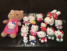 LOT OF 14 SANRIO HELLO KITTY-Lg Build A BEAR-Ty BEANIES & MORE
