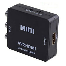 AV to HDMI Converter AV2HDMI Composite CVBS to HDMI1080p Upscaler Adapter