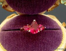 1980's 14K vergoldet, Hot PINK Cubic Zirkonia CZ Ring Gr. 16, Anneau,gold plated