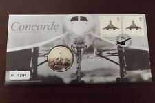 QEII FDC PNC B/UNC 2009 CONCORDE 40TH ANNIVERSARY COVER & COIN/MEDAL ROYAL MINT