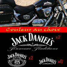 10 stickers autocollant Jack Daniel's kit sticker deco casque moto
