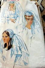 LOVELY VTG 1960s WEDDING HATS & VEILS Sewing Pattern