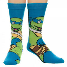 LEONARDO - TEENAGE MUTANT NINJA TURTLES ADULT MENS CREW SOCKS Novelty Funny TMNT