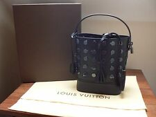 LOUIS VUITTON BLACK LEATHER NN 14 PM AUDACE NOIR RIVET HANDBAG - BRAND NEW