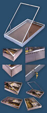 Large Aluminium Dealer Lockable Show Display Case WW1 WW2 Pistols Bayonets Medal