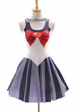 SK-07 Gr. S-M Sailor Moon Pluto grau Kleid dress Cosplay Manga Japan Anime