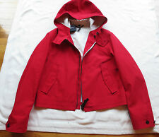 NWT $2195 BURBERRY PRORSUM Mens Red Rain Coat/Jacket US 44 EU 54