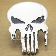 Western Silver & Black Punisher Skull Comics Cowboy Belt Buckle Costume Gift