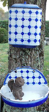 ANCIENNE FONTAINE EMAILLEE LUSTUCRU BLEUE