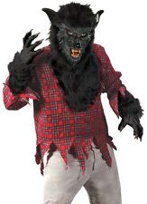 Adult Black Fur Deluxe WereWolf Cosplay Costume Were Wolf WareWolf - Fast Ship -