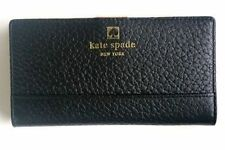 GORGEOUS, BRAND NEW $198 KATE SPADE PEBBLED BLACK LEATHER WALLET