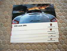 PORSCHE FACTORY ISSUED BOXSTER COLLECTOR POSTCARD 1956 MEETS 2001 SET OF 5 1997