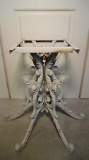 VTG HOLLYWOOD REGENCY ALUMINUM PATIO GARDEN SIDE END VOLUTES SCROLL TABLE MARBLE