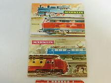 AV364-0,5# 2x Märklin Katalog (ohne Gutschein): 1968/69 D DM + 1965/66 D DM