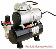 Airbrush Kompressor AS-186 Airbrushkompressor 23 l/min wartungsfrei 4bar  01762