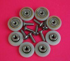 8 X Puerta de ducha rollers/runners/wheels De 19mm Diámetro piezas de reemplazo l017