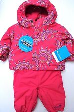NWT COLUMBIA GIRLS INFANT WATERPROOF FABRIC SNOWFALL FUN SET SNOWSUIT 3-6 MONTHS