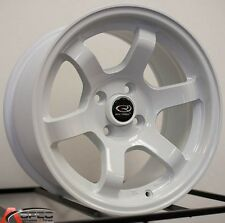 15X9 ROTA GRID WHEELS 4X100 WHEELS +36MM WHITE COLOR (SET OF 4 )