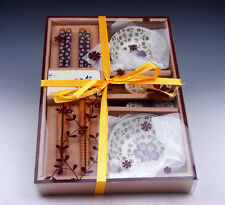 Gift Set Chinese Dining Ware Chopsticks & Holders & Saucers BRAND NEW #01071602