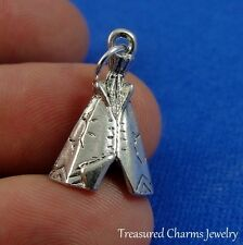 Silver TEPEE Tipi CHARM Southwestern Native American Indian PENDANT