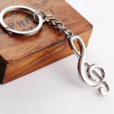 Stainless Steel Music Symbol Metal Key Ring Keyfob Keyring Keychain Gift one hs