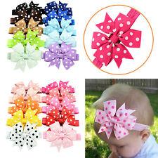 10Pcs Baby Girl Headband Lace Headwear Elastic Hair Band Hairband Headdress New