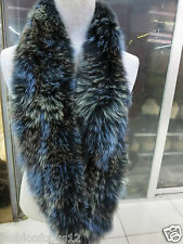 Elegant/100% fox fur knitted long neckerchief /scarf latest style colorful