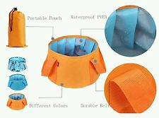 Interthing 15L Foldable Sink Portable Camping Collapsible Bucket with Carrying