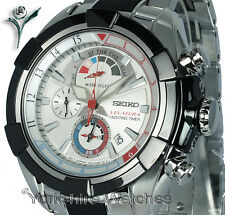 New SEIKO VELATURA YACHTING CHRONO WITH STAINLESS STEEL BRACELET SPC145P1