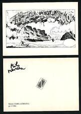 Milo Manara : cartolina Stampa Alternativa per il Cora - RARA (VIII°)