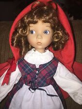 "14"" Porcelain Little Red Riding Hood Doll by Ashton Drake, Dianna Effner, 1990's"